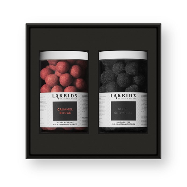 Caramel Rouge & black Snowball, 500g, Lakrids by Johan Bülow